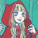 Illustration de chaperon rouge pour un fanzine lolita